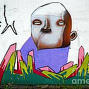 Graffiti Art Curitiba Brazil 17 Print by Bob Christopher