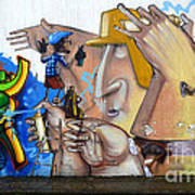 Graffiti Art Curitiba Brazil  19 Print by Bob Christopher