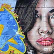 Grafitti Art Calama Chile Print by Bob Christopher