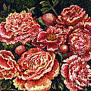 Grandma Lights Peonies Print by Linda Simon