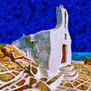 Greek Church 5 Print by George Rossidis