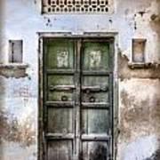 Green Door Print by Catherine Arnas