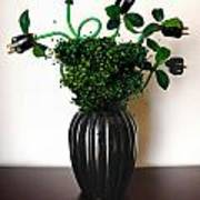 Green Energy Floral Arrangement Of Electrical Plugs Print by Amy Cicconi