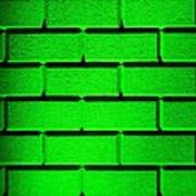 Green Wall Print by Semmick Photo