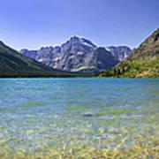 Grinnel Lake Glacier National Park Print by Rich Franco