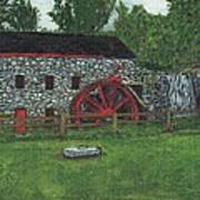 Grist Mill At Wayside Inn Print by Cliff Wilson