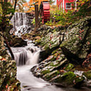 Grist Mill-bridgewater Connecticut Print by Thomas Schoeller