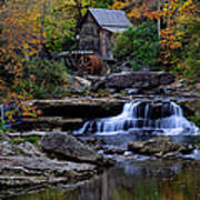Grist Mill Falls Print by Lone  Dakota Photography