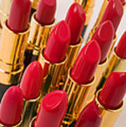 Group Of Red Lipsticks Print by Garry Gay