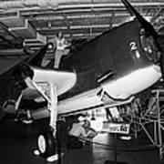 Grumman Eastern Aircraft Tbm 3e Tbm3e Avenger On The Hangar Deck At The Intrepid Air Space Museum Print by Joe Fox
