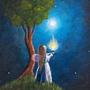 Guardian Of Light By Shawna Erback Print by Shawna Erback