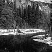 Half Dome In Winter Print by Karma Boyer