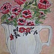 Hall China Red Poppy And Poppies Print by Kathy Marrs Chandler