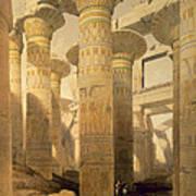 Hall Of Columns, Karnak, From Egypt Print by David Roberts