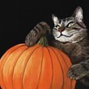 Halloween Cat Print by Anastasiya Malakhova