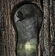 Halloween Keyhole Print by Amanda Elwell