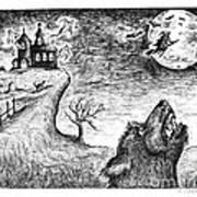 Hallows Eve Print by Karen Sirard