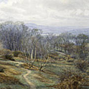 Hampstead Heath Looking Towards Harrow On The Hill Print by Edith Martineau