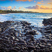 Hana Bay Sunrise Print by Inge Johnsson