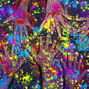 Hands Of Colour Print by Tim Gainey
