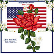 Happy Birthday America Print by Anne Norskog