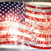 Happy Birthday America Print by Li   van Saathoff