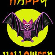 Happy Halloween Bat Print by Amy Vangsgard
