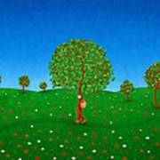 Happy Walking Tree Print by Gianfranco Weiss