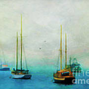 Harbor Fog Print by Darren Fisher