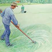 Harvesters Print by Carl Larsson