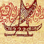 Hawaiian Canoe Print by William Depaula