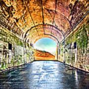 Hawk Hill Tunnel Print by Robert Rus