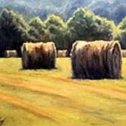 Hay Bales Print by Janet King