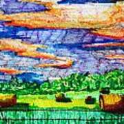 Hayfields Print by Jame Hayes