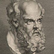 Head Of Socrates Print by Anonymous