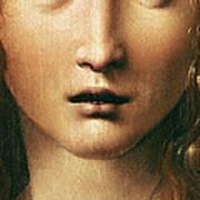 Head Of The Savior Print by Leonardo Da Vinci