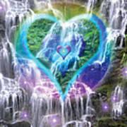 Heart Of Waterfalls Print by Alixandra Mullins