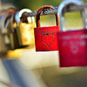 Heart On The Padlock Print by Gynt