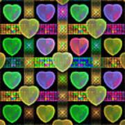 Hearts Print by Sandy Keeton