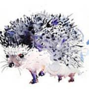 Hedgehog Print by Kristina Bros