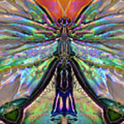 Her Heart Has Wings - Spiritual Art By Sharon Cummings Print by Sharon Cummings