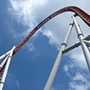 Hershey Park - Storm Runner Roller Coaster - 12123 Print by DC Photographer