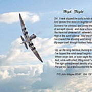 High Flight Print by Pat Speirs