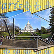 High On A Hill In Paris - Sacre Coeur Print by Mark E Tisdale