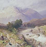 Highland Scene Near Dalmally Argyll Print by Myles Birket Foster