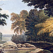 Hill Village In The District Of Bauhelepoor Print by William Hodges