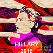 Hillary Clinton 2016 Print by Marvin Blaine