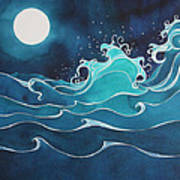 Hina I Ka Malama Drum Print by Lynne Baur
