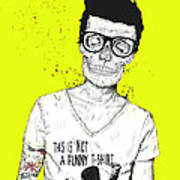 Hipsters Not Dead Print by Balazs Solti