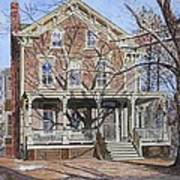 Historic Home Westifled New Jersey Print by Anthony Butera